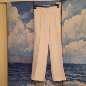 Emma James White Linen/Rayon lined Pant